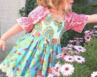 Pink Fig Patterns, Girl's Sewing Pattern, Mia Top, Size 12 Months to 10 Years