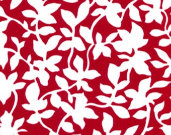 Home Decorator Fabric, For Your Home by Vicki Payne, Leaves in Cherry, 1 Yard