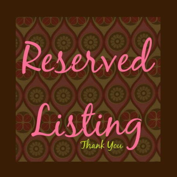 Reserved Listing for Kate Allen