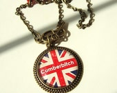 Cumberbitch Necklace Sherlock Necklace Sherlock Holmes Necklace UK Sherlock Fandom Jewellery Sherlock Jewellery