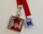 Kindergarten and Pre-K Graduation Photo or Hanging Pendant / Bookmark with Personalized Charm