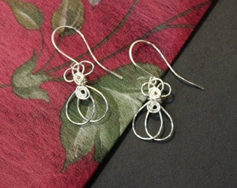 1 Pair - Artisan Handmade Money Bag Earrings - Sterling Silver