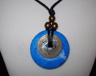Chinese Pi Ring Pendant Necklace, Lifesaver Pendant, Pi Ring Pendant,