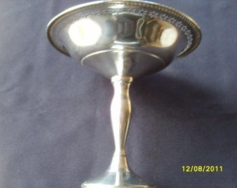Vintage Sterling Silver Candy Dish Sterling Nut Dish Bowl Table Top Entertaining Fine Dining