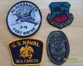 Military Patches Blacksnakes, 142nd Fighter INTCP, USNaval Sea Cadets