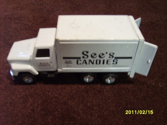 Sees Candy Metal Toy Delivery Truck Advertising Collectible Vintage Toy