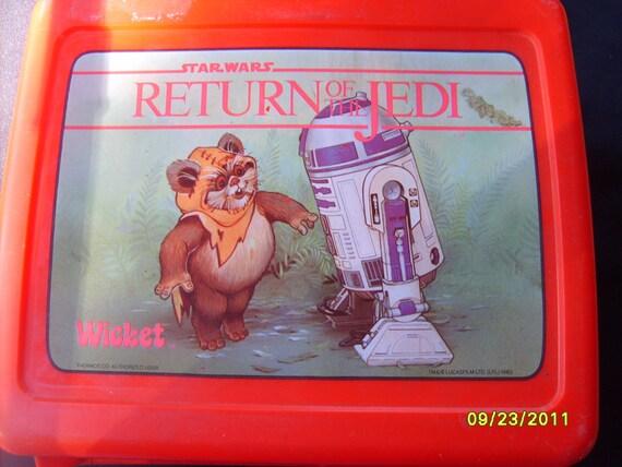 Return of the Jedi, Vintage Lunchbox, Plastic Lunch Box, Star Wars,  Return of Jedi Lunchbox,  Wicket C3P0