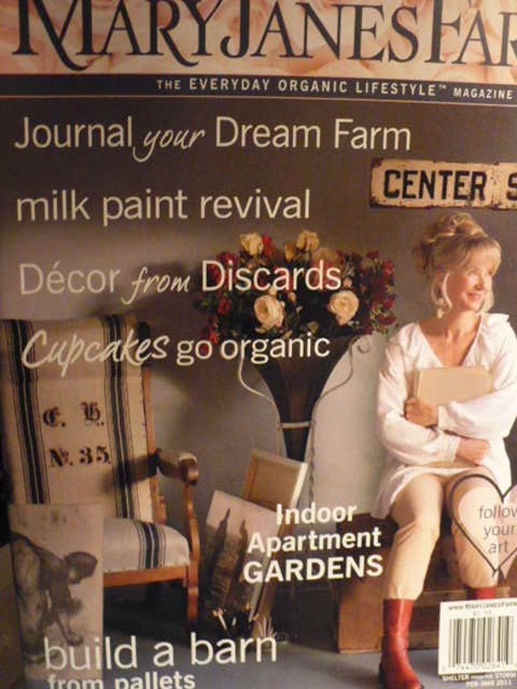 MARY JANES FARM MAGAZINE 2012 Six (6) back issues - Organic Natural Living