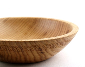 Wooden Red Oak Bowl / Dish