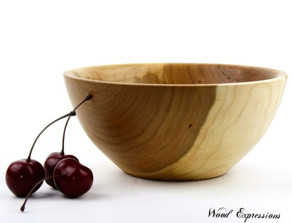 Wooden Cherry Bowl/Dish  Hand Turned