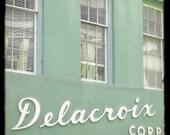 """SALE New Orleans Photography - """"Delacroix Building"""" - 5x5 Fine Art Photo by Lesley Sico"""