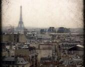"""SALE Paris Photography - """"Paris Skyline, Through the Viewfinder"""" - 5x5 Fine Art Photo by Lesley Sico"""