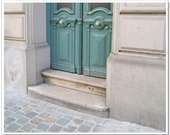 "Europe Photography - ""Mint Green Door, Brussels"" - 8x10 Fine Art Photo by Lesley Sico"
