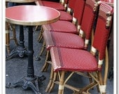 5x5 fine art photograph /// sidewalk cafe, paris /// photo by lesley sico