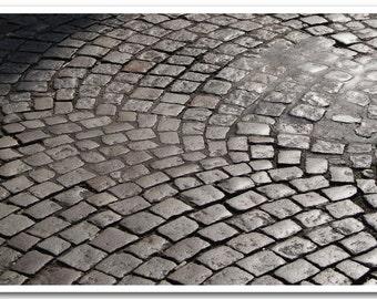 """Paris Photography - """"Montmartre Cobblestones"""" - 5x7 Fine Art Photo by Lesley Sico"""