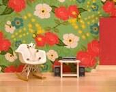 2 for 1 SALE - mid-century modern Eames rocker, baby fox art, modern kids decor: Retro Rocker