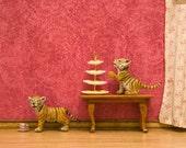 2 FOR 1 SALE - tiger print, red, twins, nursery decor, kids art, Victorian - Tiger Twins 8 x 10