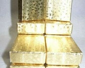 JEWELRY GIFT BOXES Gold Foiled 2 x 1.5 x 5/8 (12)