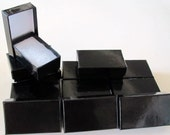 JEWELRY GIFT BOXES Black Gloss 2.5 x 1.5 x 7/8 (12)