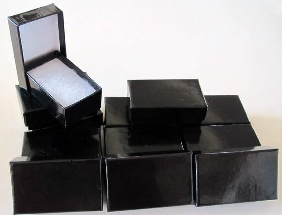 JEWELRY GIFT BOXES Black Gloss 2.5 x 1.5 x 7/8 (12)