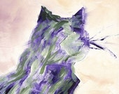 LILAH Eco Print Abstract Cat 12x18