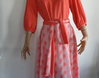 Vintage 60's- 70's Maxi dress /Mrs Brady Dress