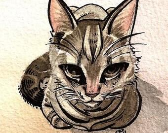 8x10 Custom Watercolor Pet Animal Portrait
