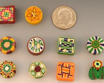 DESTASH - 50 Pieces - Autumn Series Polymer Clay Beads
