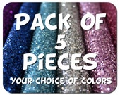 YOUR CHOICE of 5 colors glitter fabric