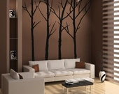 Vinyl wall art decals - 4 Set of Winter Tree Wall Decals - Inspiring Designs by Surface Inspired