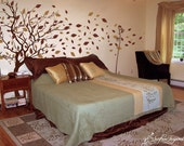 Vinyl wall art decals - Large Autumn Tree Decal - ON SALE