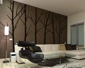 Tree Wall Decals - Set of 6 tree decals.