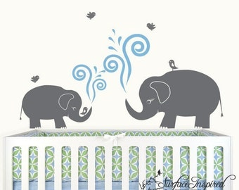 Wall Decal Nursery Elephant Decal