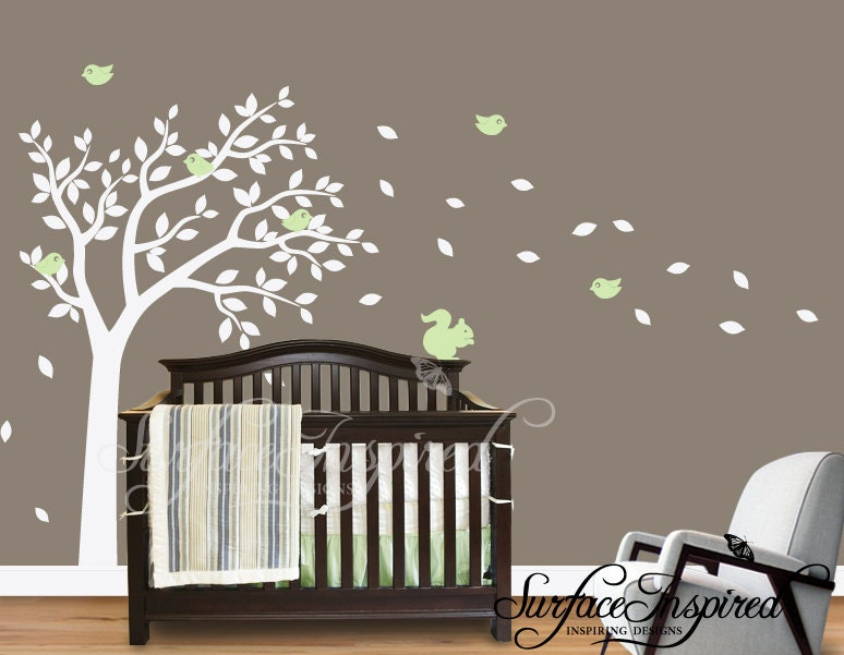 ... Tree Wall Decals For Nursery By Baby Wall Decor Stickers Best Baby  Decoration ... Part 82