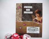 Her favorite color is chocolate. Collage Greeting Card.