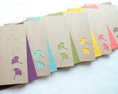 Note Card Gift Set - Ginkgo Delight in Vibrant Hues with colored envelopes