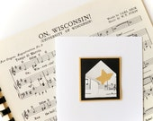 Handmade Graduation Card for a graduating star - black, white, gold, music