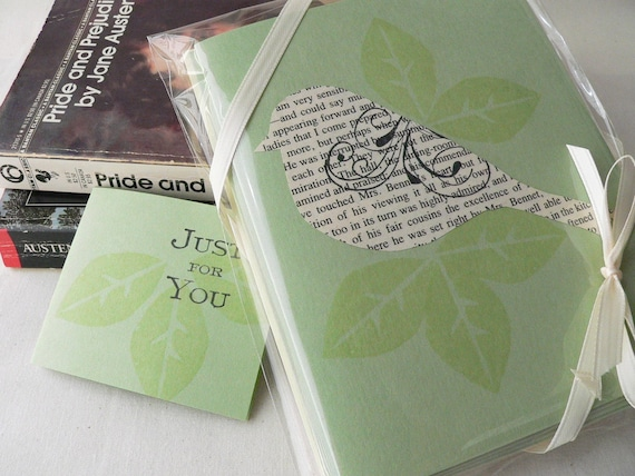 Jane Austen Bird Note Card Gift Set of 4