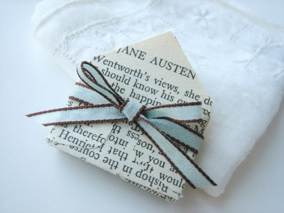 Miniature Envelopes made from vintage Jane Austen pages set of 12
