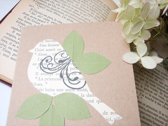 Little French Bird Note Card