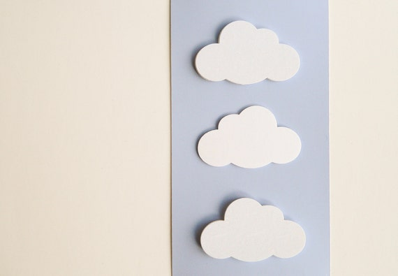 20 Punched Clouds - Confetti or Papercraft - Wedding Reception, Invitations, Table Decoration