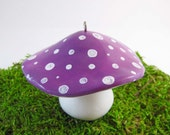 Purple Toadstool Christmas Ornament