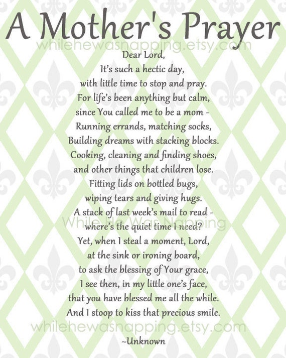 Mother's Prayer Printables Pack