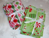 RESERVED for Michelle - Small Fabric Stocking Stuffer Bags - Set of 18