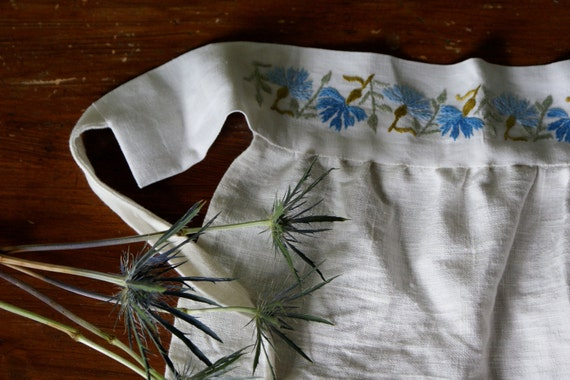 RESERVED FOR ANNA: Handmade Apron With Vintage Swedish Embroidery