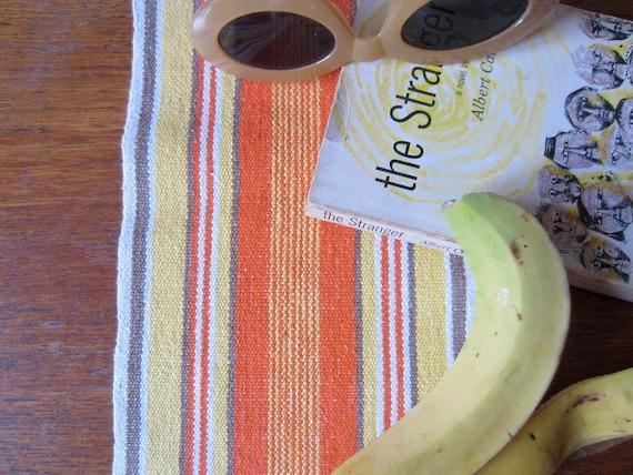 Vintage Swedish Handwovens: Skinny Citrus Runner