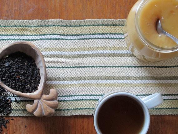 RESERVED FOR LINDA Vintage Swedish Handwovens: Striped Honey