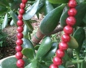 Round Red Coral Necklace