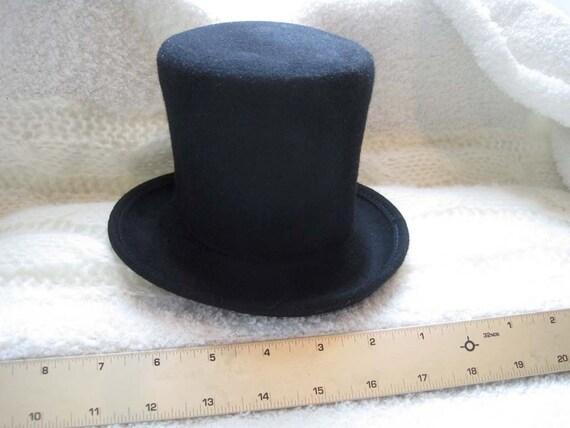 how to make black felt top hat