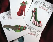 On hold for Michelle-aka. mickey- Christmas Shoe Greeting Cards- 25 cards
